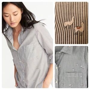 Llama Button-down , Old Navy